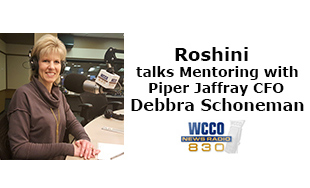 Roshini talks mentoring with Piper Jaffary CFO Debbra Schoneman