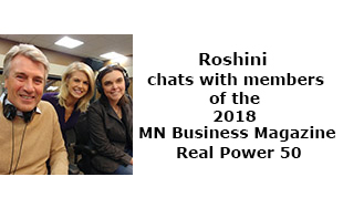 Roshini chats with members of the 2018 MN Business Magazine Real Power 50