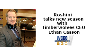 Roshini talks with Timberwolves CEO Ethan Casson