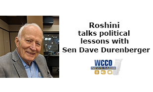 Roshini talks political lessons with Dave Durenberger