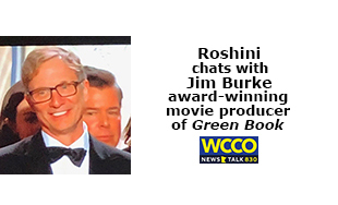 Roshini chats with JIm Burke award-winning movie producer of Green Book