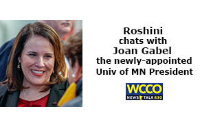 Roshini chats with Joan Gabel President University of MN