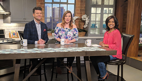 Roshini shares stress-busting tips on ABC Minneapolis