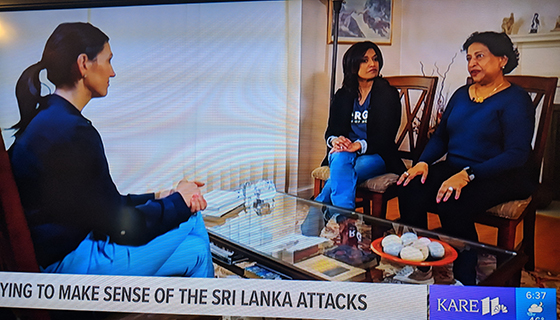 Roshini and her mother Concy react to the Sri Lanka Bombings on NBC