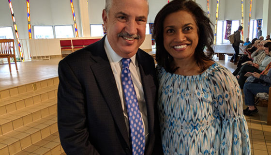 Roshini and Tom Friedman