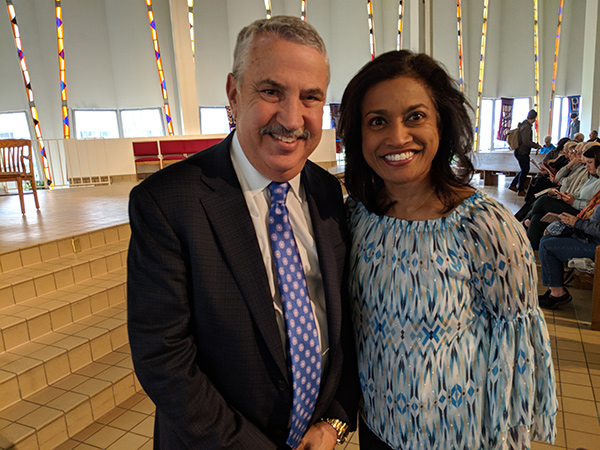 Roshini and Tom Friedman