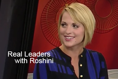 Roshini chats with Jamie Yuccas on Real Leaders with Roshini podcast