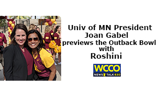 U of MN Pres Joan Gabel previews the Outback Bowl