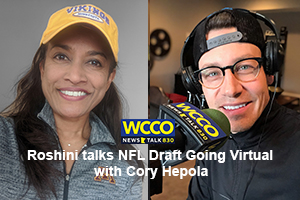 Roshini talks NFL Draft Going Virtual with Cory Hepola