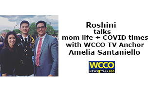 Roshini interviews Amelia Santaniello of WCCO TV