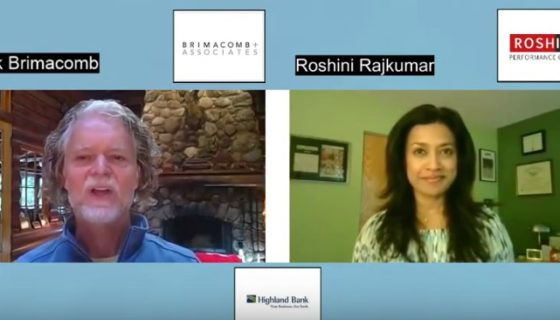 Roshini shares Strategic Communication advice for post-COVID and tense community times on ClubE with Rick Brimacomb
