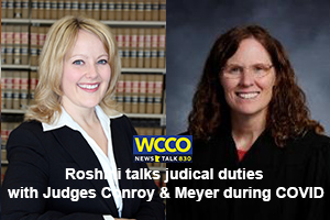 Roshini talks with Judges Lois Conroy and Judge Kerry Meyer about the wheels of justice during COVID, Zoo hearings, and the Constitution