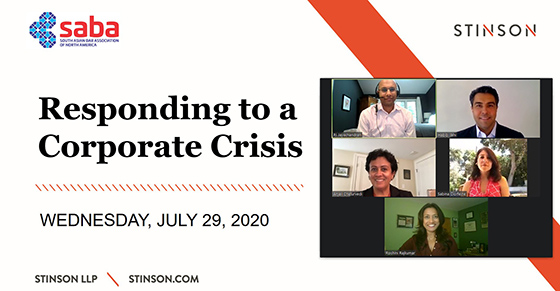 Roshini shares Crisis Readiness and Response expertise on Responding to a Corporate Crisis Panel