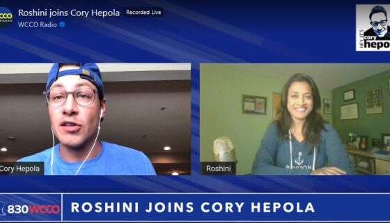 Roshini joins Cory Hepola WCCO Radio 082120