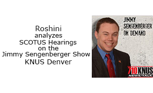Roshini analyzes SCOTUS Hearings on the Jimmy Sengenberger Show