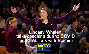 MN Gophers coach Lindsay Wahlen on REAL Talk with Roshini