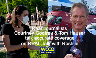 Courtney Godfrey & Tom Hauser on Real Talk with Roshini