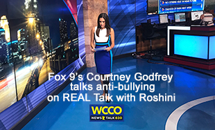 Courtney Godfrey talks anti-bullying on REAL Talk with Roshini