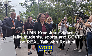 U of MN President Joan Gabel on REAL Talk with Roshini